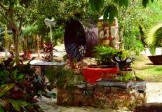 Hacienda Mexico Restaurant architecture garden Royalty Free Stock Images