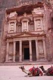 Hacienda o al-Khazneh - Petra Fotos de archivo libres de regalías