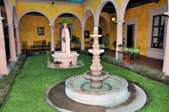 Hacienda Patio stock photo