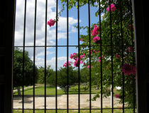 Hacienda's Window View Stock Photo