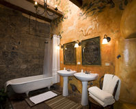 Hacienda San Agustin de Callo - Ecuador. Bathroom in the Hacienda San Agustin de Callo in Cotopaxi National Park in the Valley of the Volcanos in Ecuador Stock Images