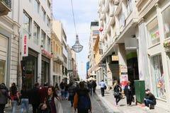 Haciendo compras en Atenas, Grecia Imagen de archivo
