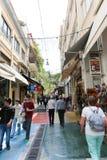 Haciendo compras en Atenas, Grecia Fotografía de archivo