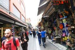 Haciendo compras en Atenas, Grecia Foto de archivo libre de regalías