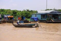 Haciendo compras en el lago, Siem Reap Fotografía de archivo libre de regalías