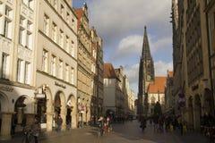 Haciendo compras en Munster, Alemania Imagen de archivo libre de regalías