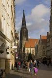 Haciendo compras en Munster, Alemania Fotografía de archivo libre de regalías