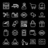 haciendo compras, icono del vector del comercio electr?nico ilustración del vector