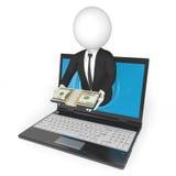 Haciendo el dinero en línea libre illustration