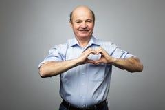 Haciendo el trabajo de la caridad, tome el cuidado de la salud, o de estar en amor Imagen de archivo libre de regalías