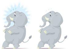 Haciendo furtivamente, elefante nervioso. Fotografía de archivo libre de regalías
