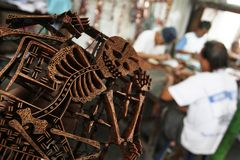 Haciendo que el batik sella Fotografía de archivo libre de regalías
