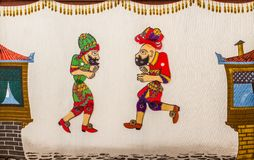 Free Hacivat And Karagoz FromTraditional Turkish Shadow Play Stock Photography - 48424702