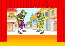 Hacivat och Karagoz royaltyfri illustrationer
