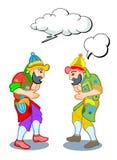 Hacivat och Karagoz stock illustrationer