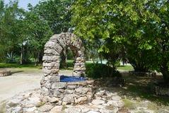 Hacjendy finca rancho Meksyk Merida gospodarstwa rolnego kolonialny Wakacyjny zdrój Yucatan Obraz Royalty Free