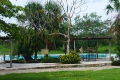 Hacjendy finca rancho Meksyk Merida gospodarstwa rolnego kolonialny Wakacyjny zdrój Yucatan Zdjęcie Stock