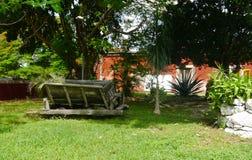 Hacjendy finca rancho Meksyk Merida gospodarstwa rolnego kolonialny Wakacyjny zdrój Yucatan Zdjęcie Royalty Free