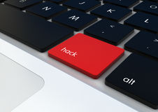 Hack concept. Piracy concept:hack button on a keyboard royalty free illustration