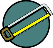 Hack saw vector illustration. Vector illustration of a hack saw Stock Photography