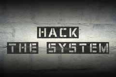 Hack the system Royalty Free Stock Photos