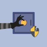 Hacka bankkassaskåpet Arkivfoton