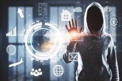Hacka och finansbegrepp royaltyfria bilder