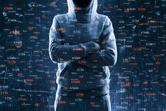 Hacka och handelbegrepp royaltyfri foto