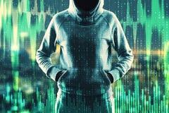 Hacka och handelbegrepp arkivfoton