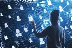 Hacka och phishing begrepp royaltyfria bilder
