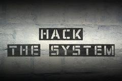 Hacka systemet royaltyfria foton