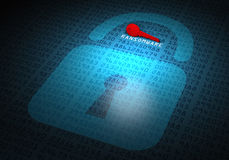 Hackat lösenord för datortangent Royaltyfri Foto