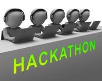 Hackathon代码恶意软件文丐3d翻译 库存例证
