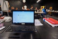 Hackathon在乌克兰 免版税库存照片