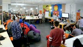 Hackaton Broadcast LAB 2016 in Kiev, Ukraine, stock video