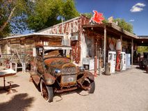Hackberry historiska Route 66, Arizona Royaltyfri Foto