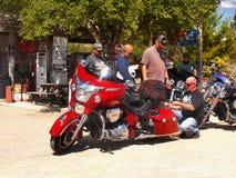 Hackberry historiska Route 66, Arizona, mopeder Royaltyfri Foto