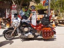 Hackberry historiska Route 66, Arizona, mopeder Arkivfoto