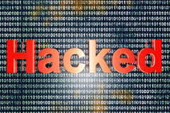 hacked Stock Foto's
