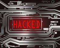 Hacked concept. Royalty Free Stock Photo