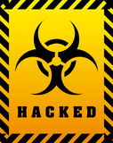 Hacked design Royalty Free Stock Image