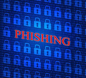 Hacked Phishing Means Threat Theft And Crack Royalty Free Stock Images