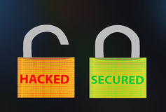 Hacked / Secured text Royalty Free Stock Image