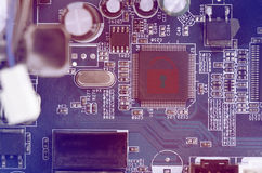 Hacked Symbol On Computer Circuit Board Stock Photography