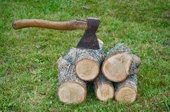 Hacken des Holzes Herbst Lizenzfreie Stockfotografie