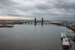 Hackensack河视图 免版税库存图片