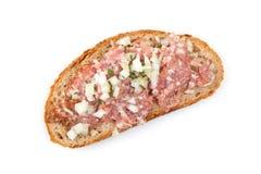 Hackepeter - viande hachée avec du pain Images stock