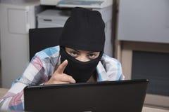 Hackerów punkty wy, wy są innym szturmowym celem Obraz Stock