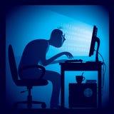 hacker vektor illustrationer