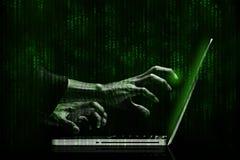 hacker Royaltyfria Foton